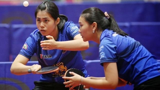 บัว-โม แกร่งแท็กทีมตบดับรุ่นพี่ทะลุชิงหญิงคู่ลูกเด้งชิงแชมป์ปทท.