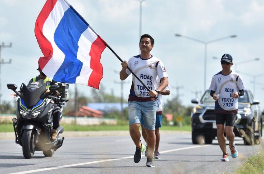 หนุ่มใต้เอ็นเข่าฉีก แต่ทนวิ่งจบ วันที่ 12 วิ่งส่งธงชาติไทย ไปโตเกียวโอลิมปิก