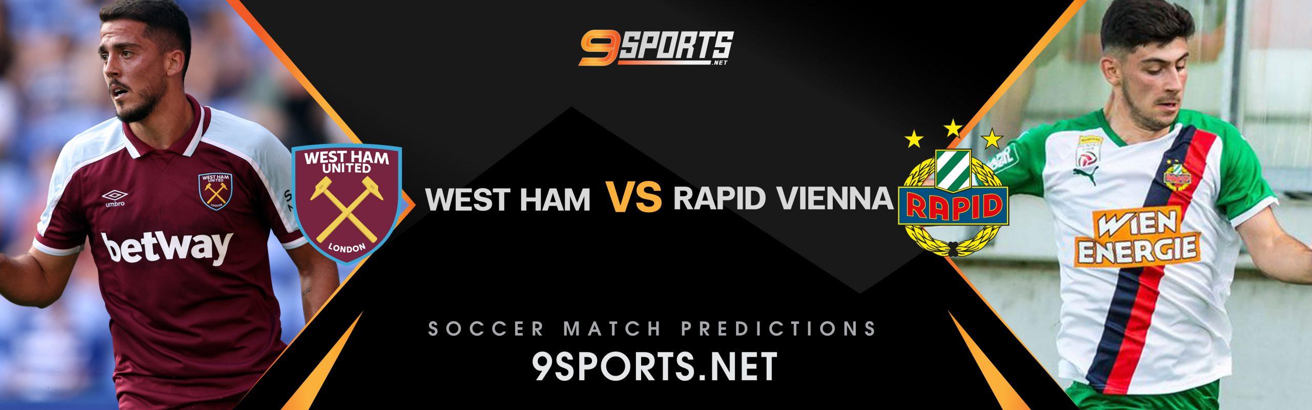 ทีเด็ดวิเคราะห์บอล 9Sports UEFA Europa League เวสต์แฮม ยูไนเต็ด VS ราปิด เวียนนา