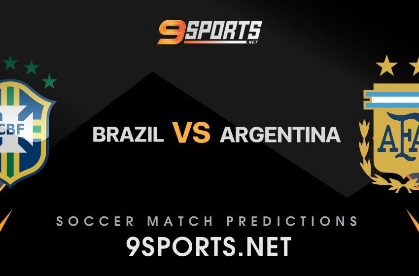 ทีเด็ด วิเคราะห์บอล 9Sports บอลโลก โซนอเมริกาใต้  บราซิล  vs  อาร์เจนติน่า